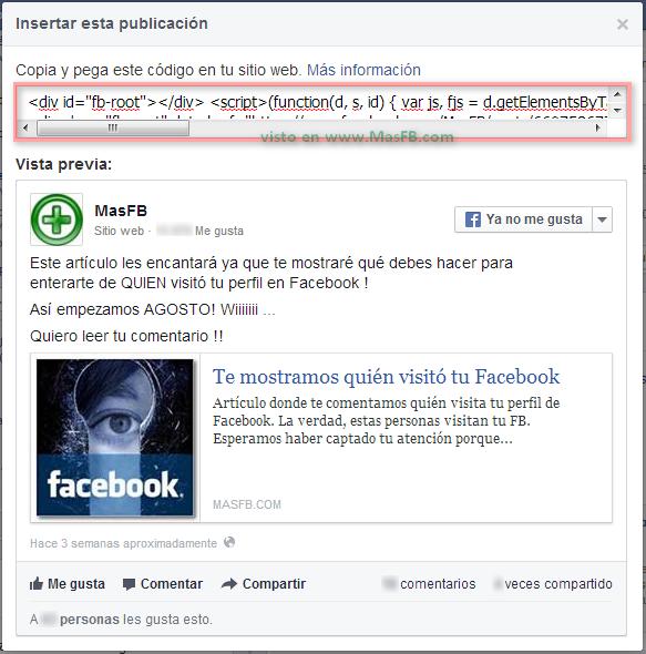 Codigo Facebook 2013