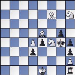 Problema de ajedrez de mate en 2 de Antonio Génova, 1949