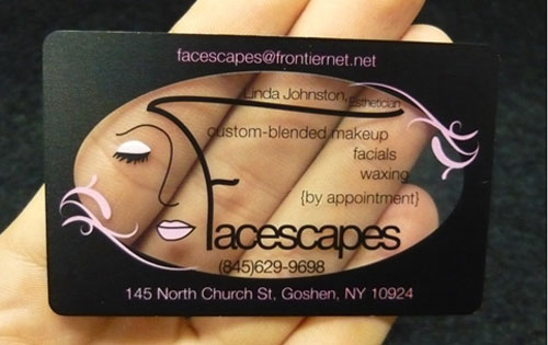 14 make up artist business card examples mow design graphic makeup artist clear plastic business card reheart Choice Image