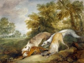 Greyhounds Coursing a Fox by Thomas Gainsborough, image copyrighted by English Heritage Prints