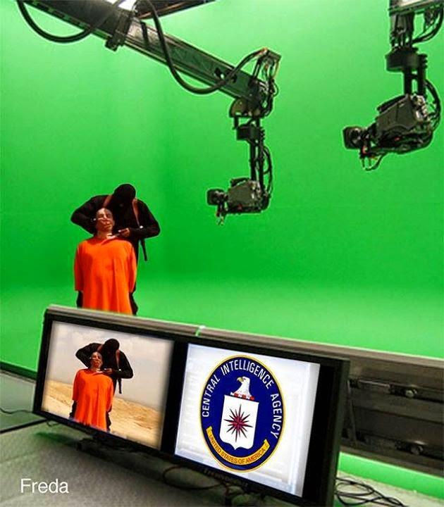 decapitação jornalista americano encenado montagem