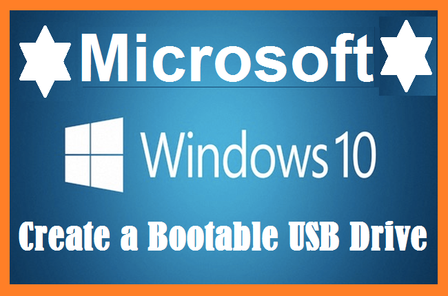 How to prepare a bootable USB drive for Windows 10