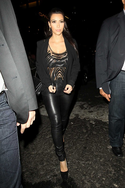 Kim Kardashian at Bowlmore Lanes in New York