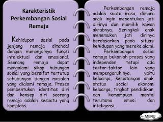 karakteristik perkembangan sosial remaja