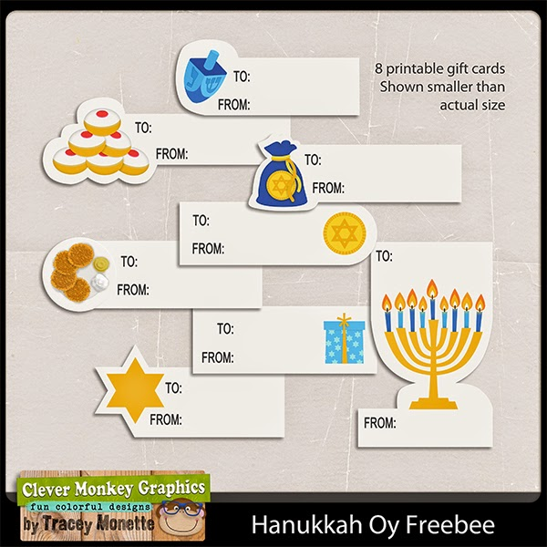 graphic relating to Free Printable Hanukkah Cards identified as Totally free Printable Hanukkah Present Tags Wise Monkey Graphics