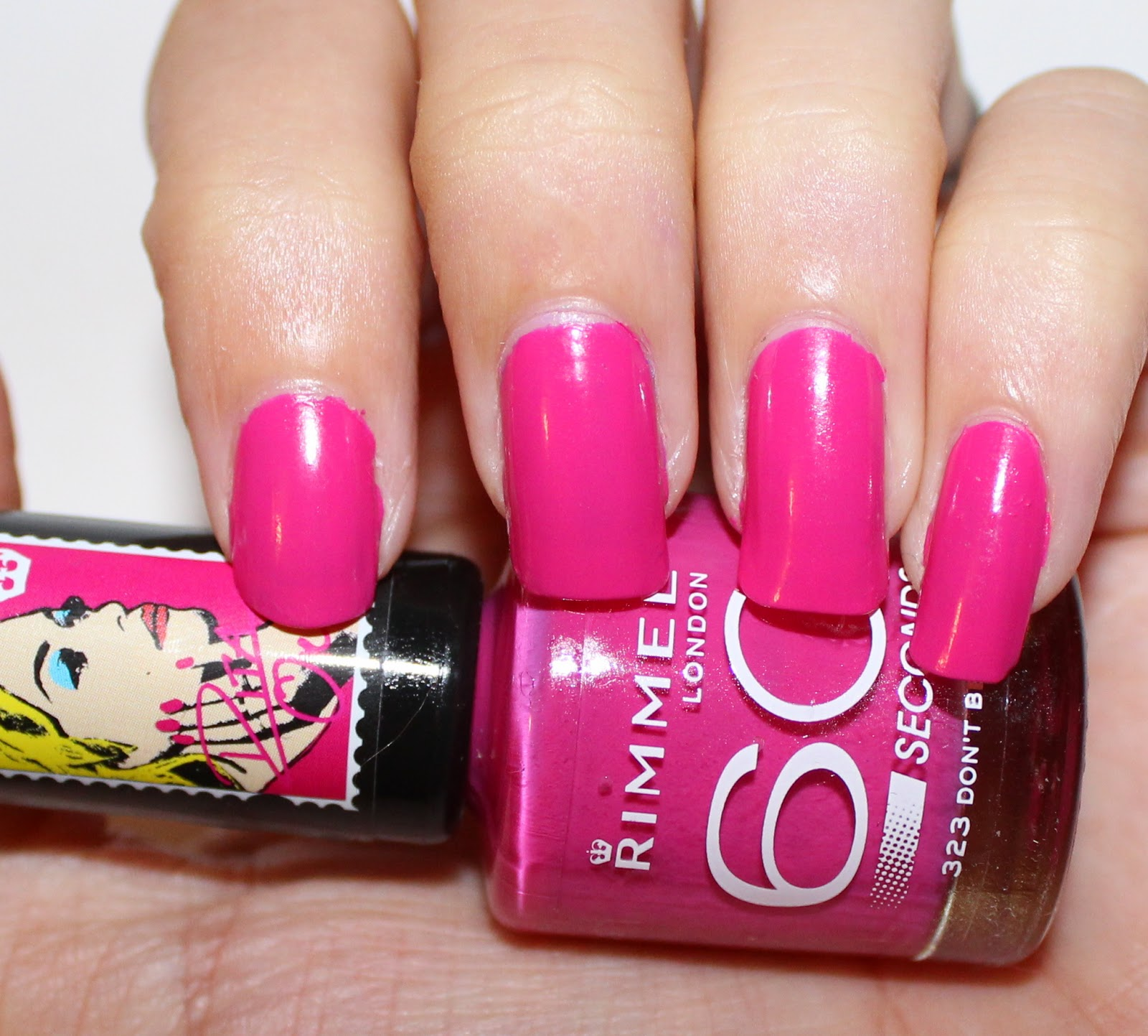 Rimmel London x Rita Ora 60 Seconds Nail Polish in Don't Be Shy Swatch