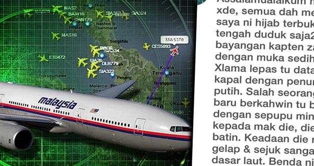 MASYAALLAH ! Sepupu Hijab Terbuka Kongsi Pengalaman Nampak Kapten MH370