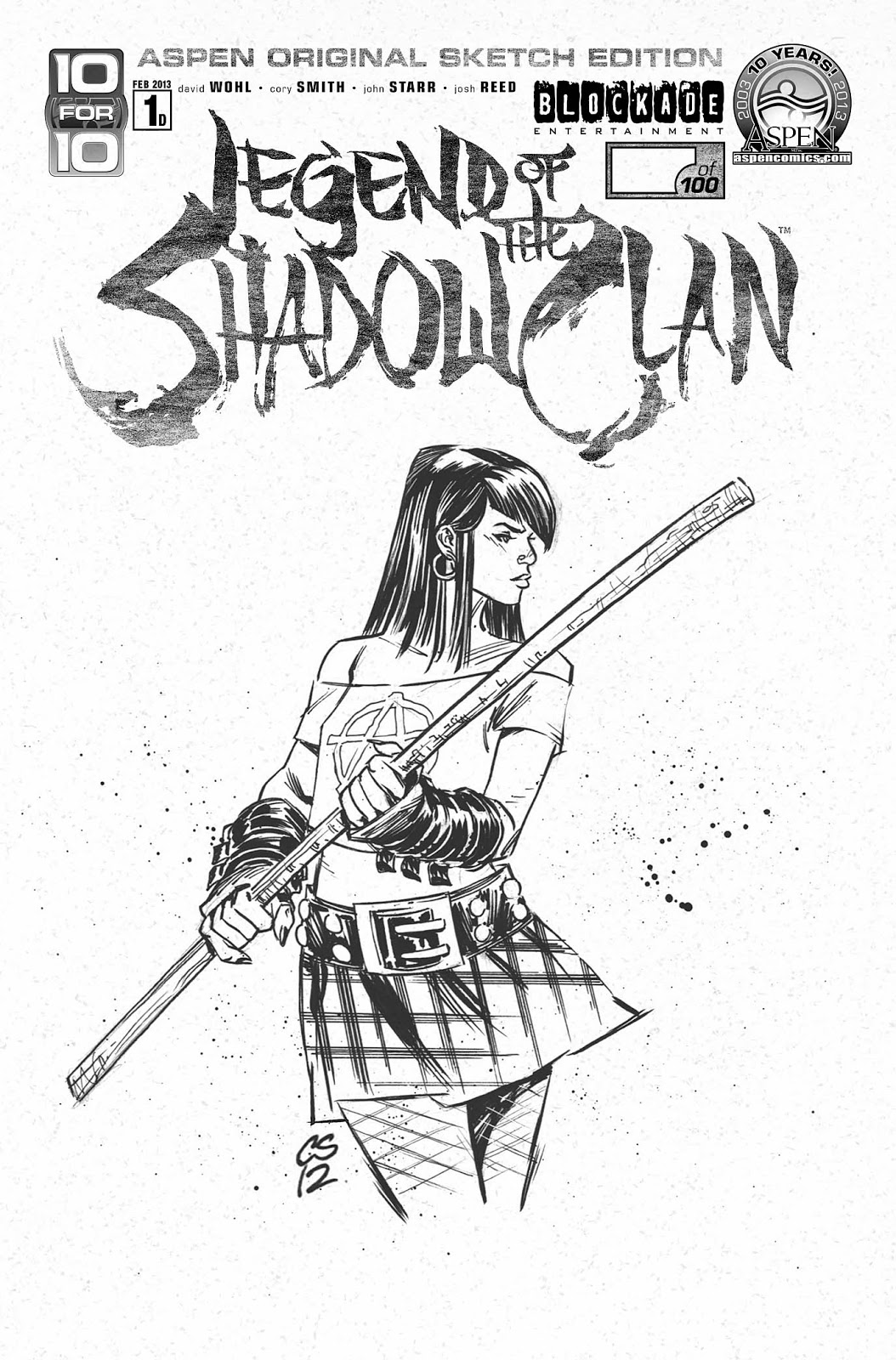 "PR: ASPEN COMICS KICKS OFF ""10 FOR 10"" WITH LEGEND OF THE SHADOW CLAN AND ADDED INCENTIVES FOR FANS AND RETAILERS"