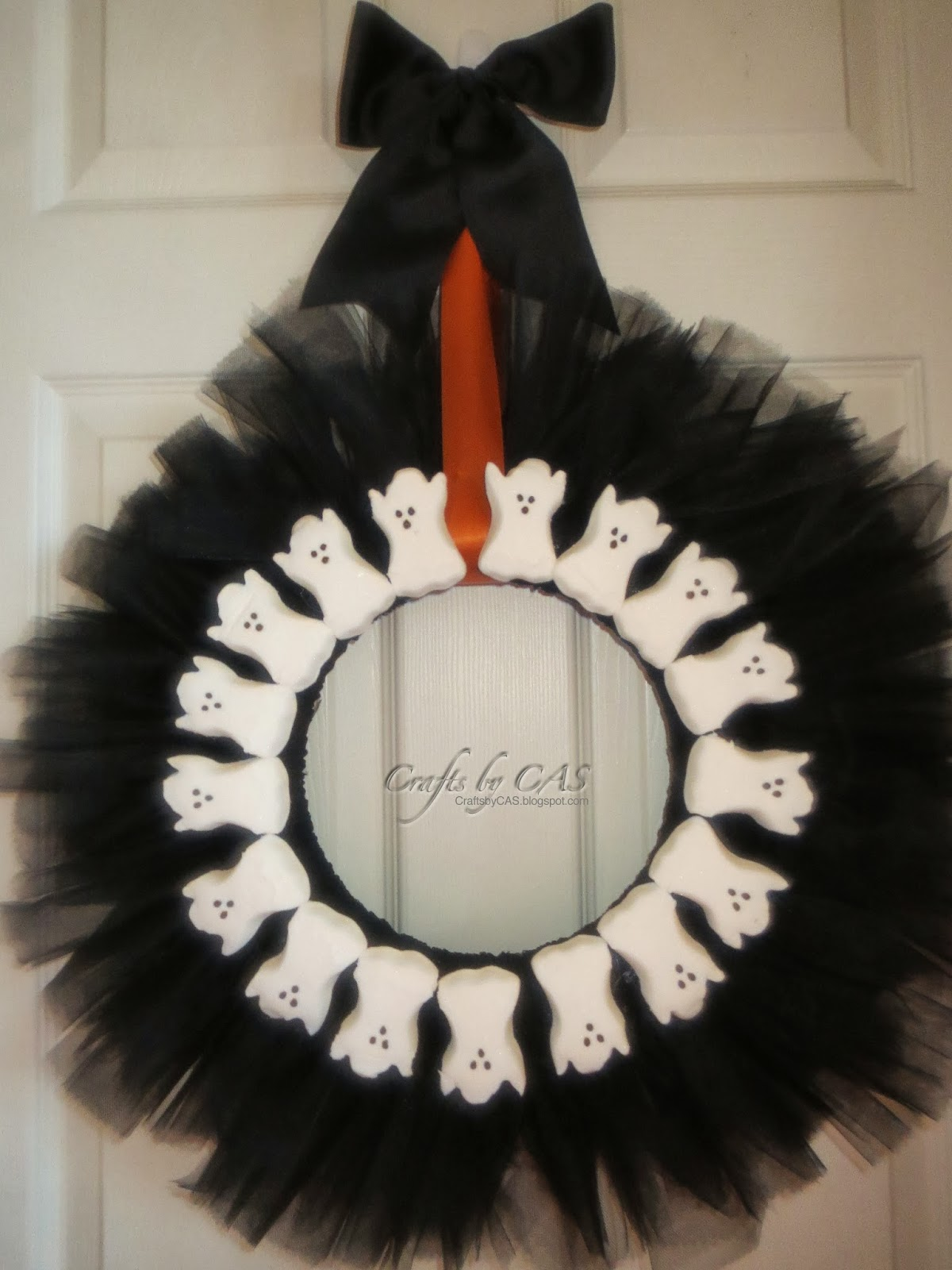 tulle halloween wreath revisited