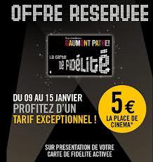 Place de cinéma Pathé à 5€
