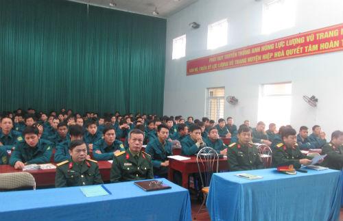 Hiệp Hòa khai mạc lớp tập huấn cán bộ dân quân tự vệ năm 2015