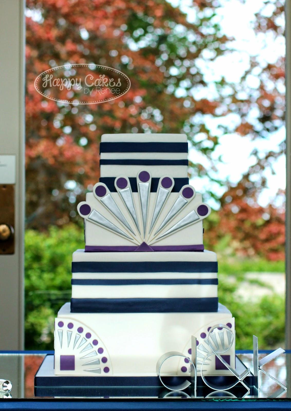 Happy Cakes Bakes: Great Gatsby/Art Deco themed Wedding Cake!