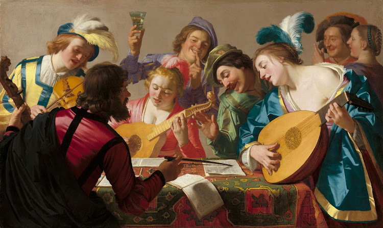 The Concert by Dutch Painter Gerard van Honthorst c1623