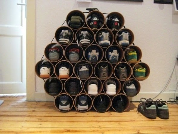 5 ideas de Zapateras con Materiales Reciclados