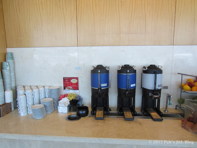 Limited free snack options at LAX Admirals Club