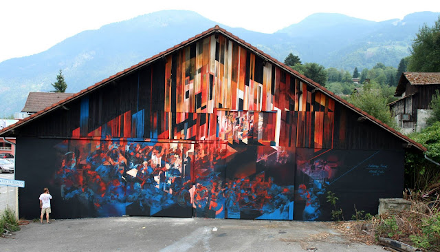 "The Kill Art Factory street art project recently took place on the streets of Saint-Gervais in France where Robert ""Tone"" Proch was invited to create a new piece of work."