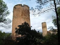 Vista de les dues Torres de Fals des de la torre nova