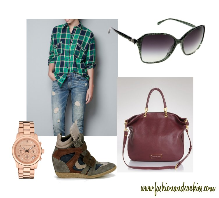 a Fall outfit for a walk, Zara shirt and Lemaré sneakers