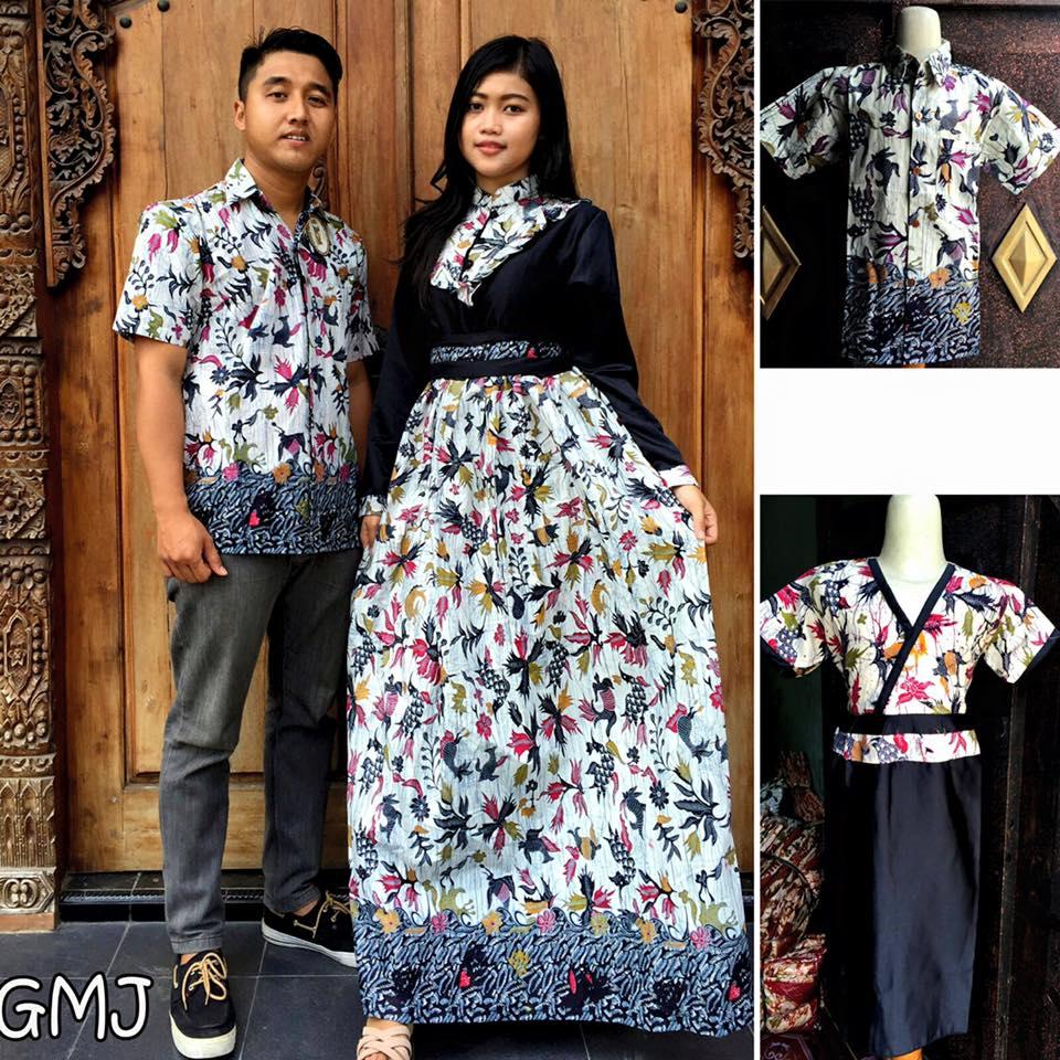 Restock Baju Batik Gamis Keluarga Gmj