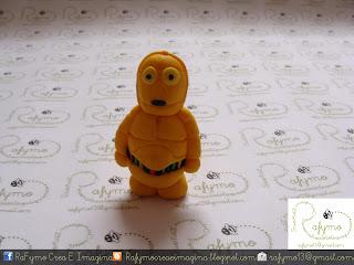 C3PO Belen de Star Wars hecho con Fimo