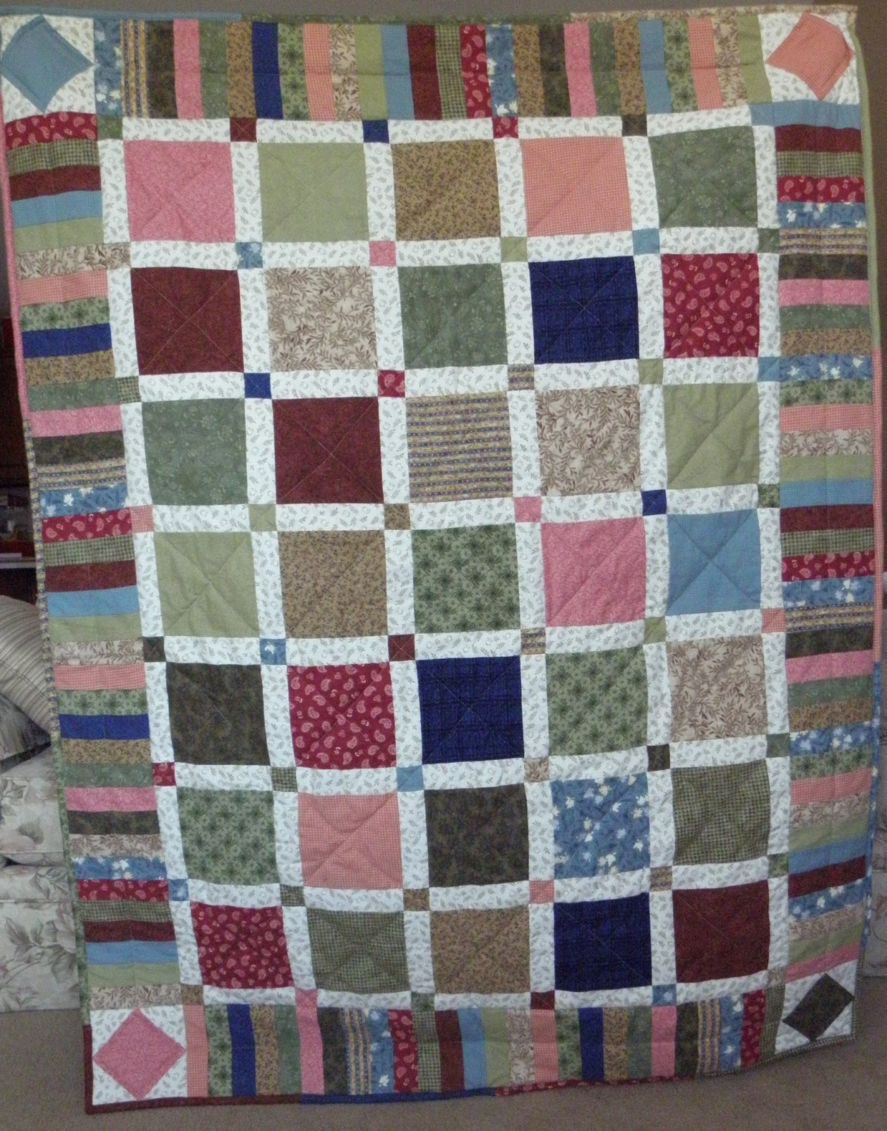 Quilt Patterns For Flannel : Sewing & Scrapping with Susan: Flannel Squared Flannel Lap Quilt