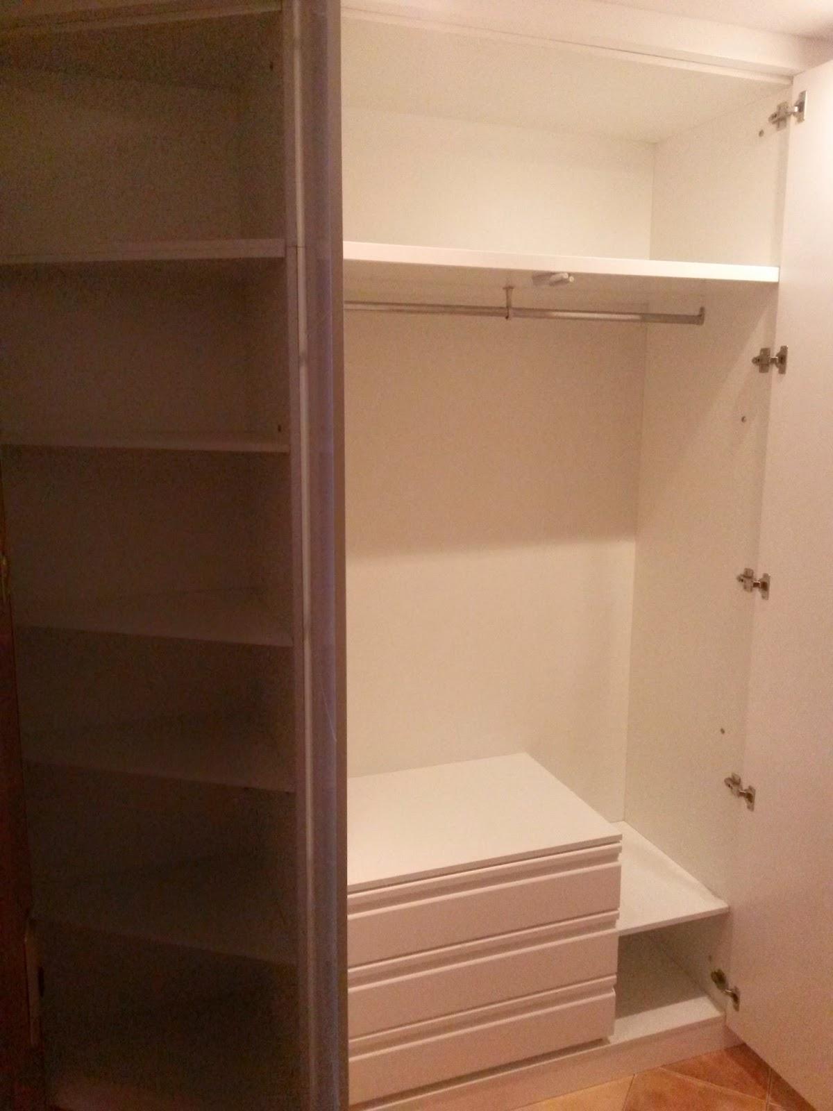Muebles a medida armario con terminal en esquina estilo - Armario estilo japones ...