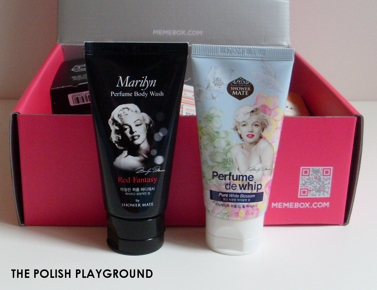 Memebox Global #14 Unboxing - Shower Mate Perfume de Whip Body Wash in 01 Romantic Pink Garden and 03 Marilyn Red Fantasy