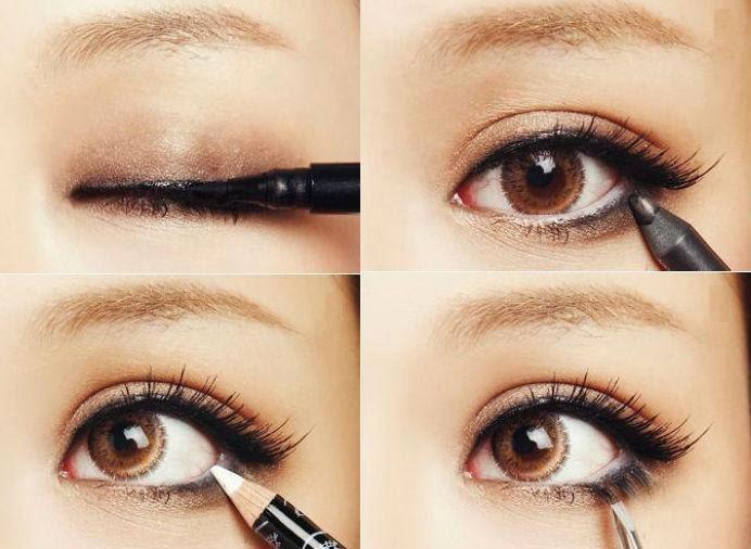 Image result for eyeliner dan mascara