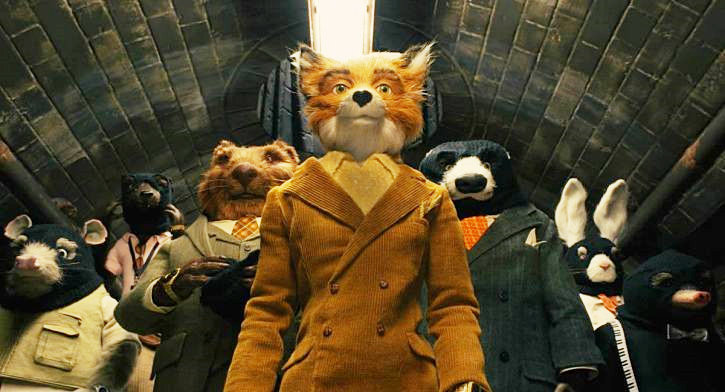 Mr. Fox in work clothes in The Fantastic Mr. Fox disneyjuniorblog.blogspot.com