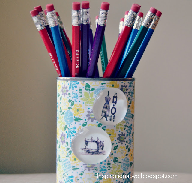 How to Make a Pencil Holder Using a Can