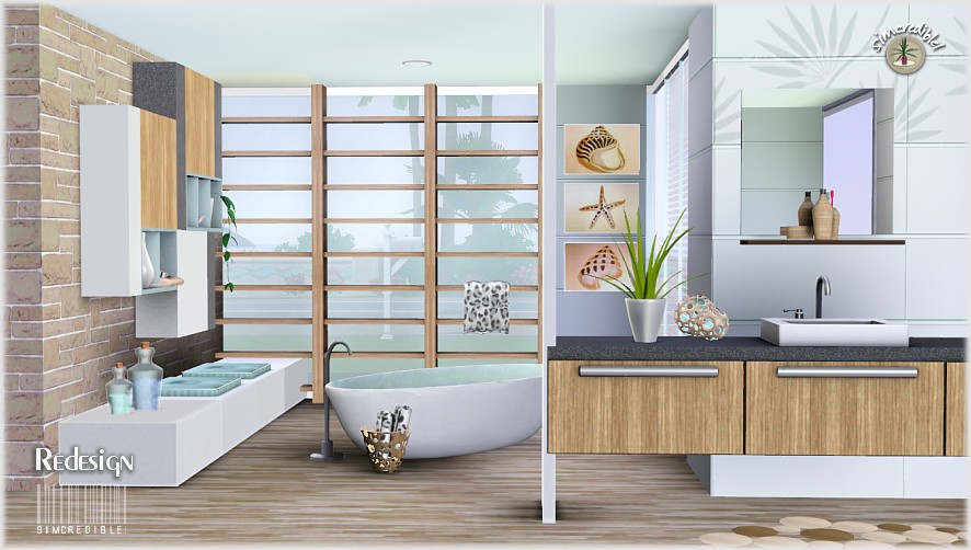 My sims 3 blog redesign bathroom set by simcredible designs for Bathroom ideas sims 4