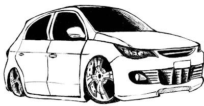 Desenho como desenhar Designer carros bonitos   pintar e colorir