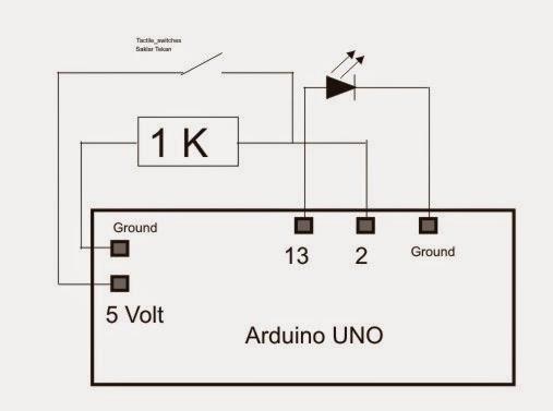 belajar arduino  arduino dan saklar