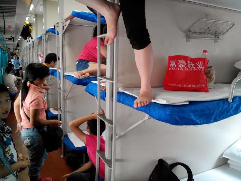 Primer viaje en cama dura: Guilin - Chengdu, 20 horas.