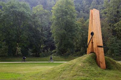 Giant peg sculpture, Belgium
