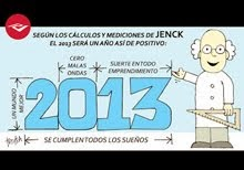 12 viñetas de este blog ilustran el calendario 2013 de la empresa Jenck S.A.