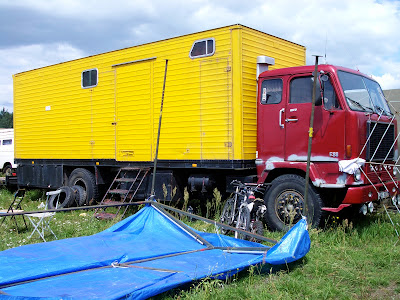 Volvo F88 traveller truck seen at a teknival in Poland in 2007