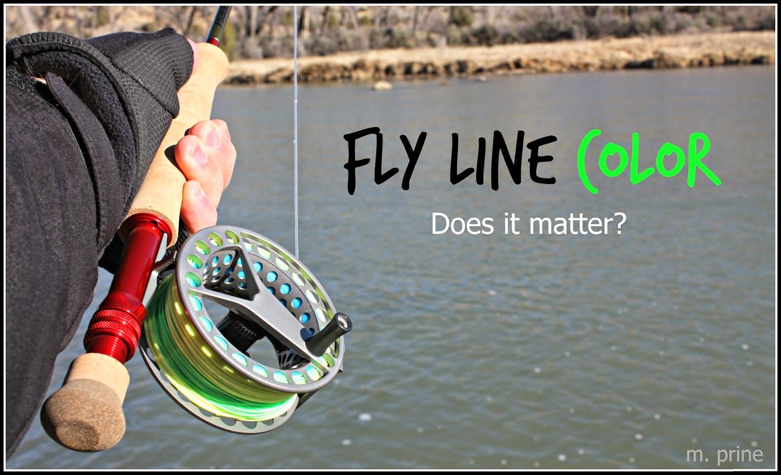 Gorge fly shop blog floating fly line color does it for Best saltwater fishing line color