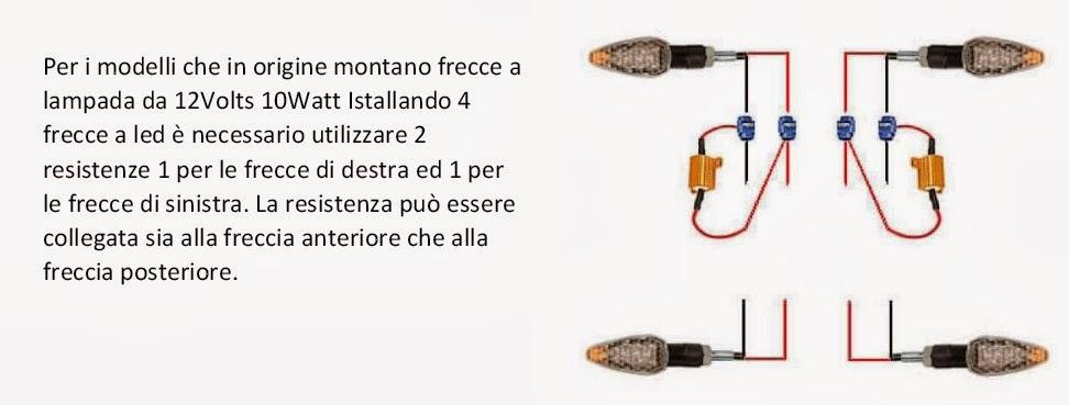Schema Elettrico Frecce Moto : Indicatori e luci a led al posto dei tradizionali