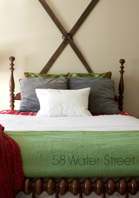 58 Water Street, Holiday guest room, holiday decor, design, decorating, christmas