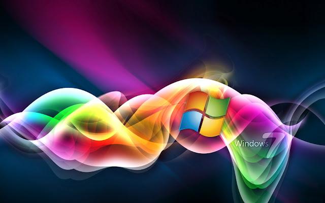 Mooie gekleurde Windows 7 achtergrond