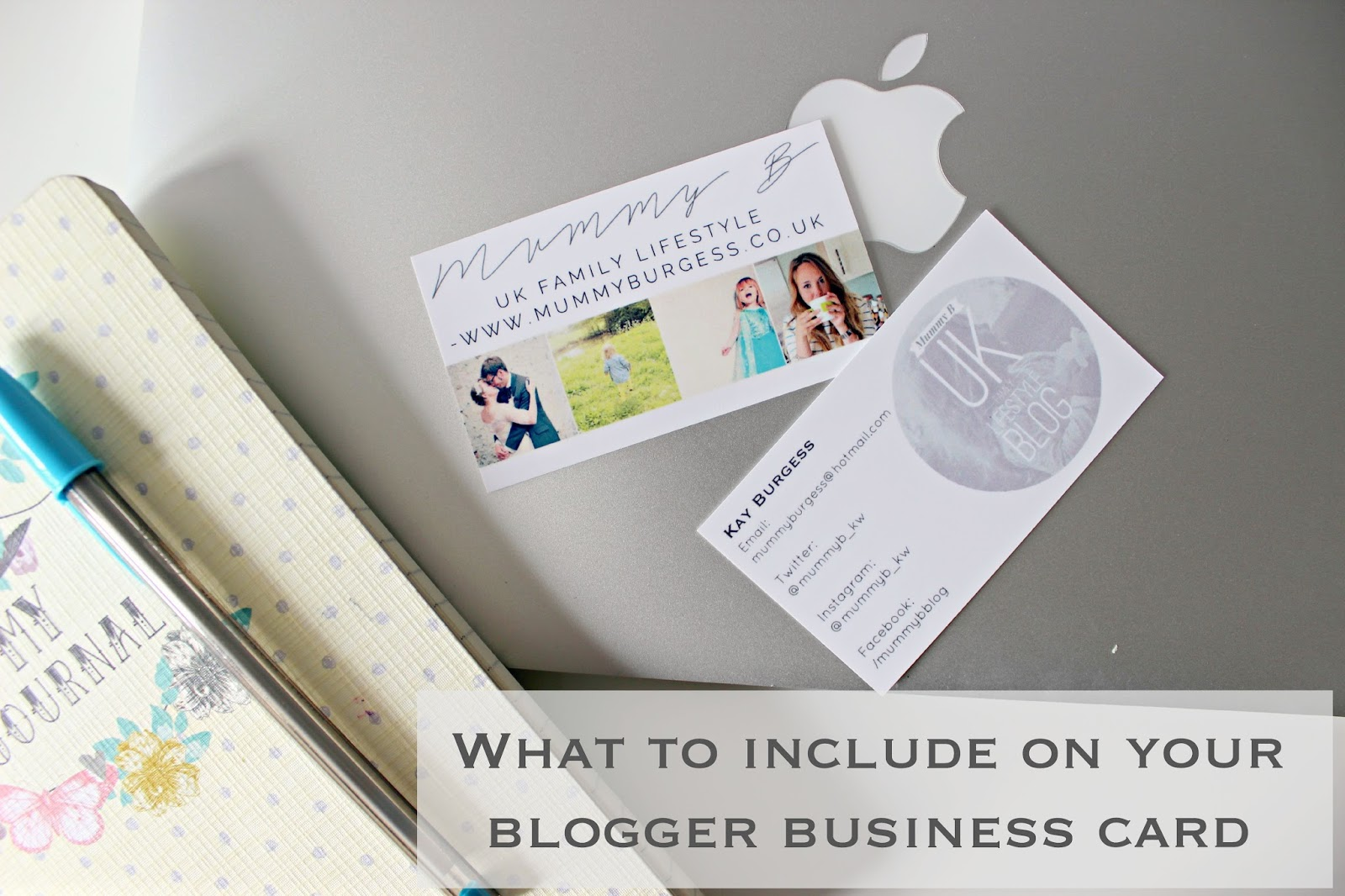 What to include on your blogger business cards | Review | K Elizabeth