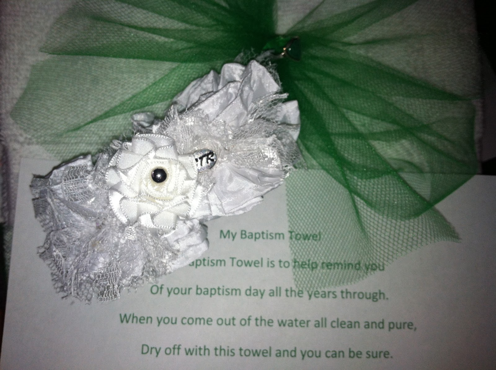 fancy meeting ewe: baptism gift idea for a girl