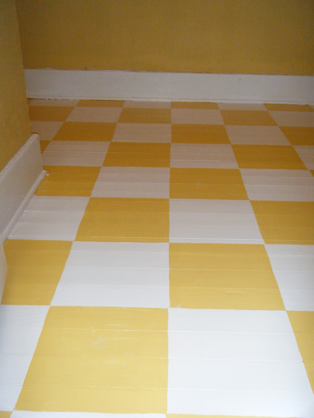 Creativity in DIY: You Can Do It!: Paint a wood floor? Why not?