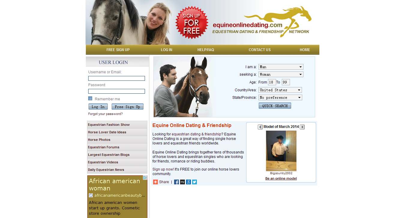 Top Six Equestrian Dating Sites Review blogger