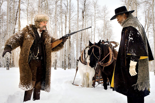 "Kurt Russell and Samuel L. Jackson in Quentin Tarantino's ""The Hateful Eight"""