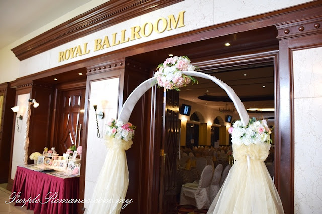wedding decoration vendor, arch, organza, floral, flower design, outdoor ceremony, event, management, kuala lumpur, selangor, draping, ceiling, red carpet, rental, backdrop, printing, chair tie back, satin sashes, kelab golf sultan abdul aziz shah, dessert bar, table, ballroom stage backdrop, photo album table, love corner, reception table, VIP table centerpiece, chandelier, fresh flower, flower stand, metal lantern, block candle, balloon, helium, pink and white theme, buggy car, gold car, cupcakes, fruit tarts, toppers, royal ballroom