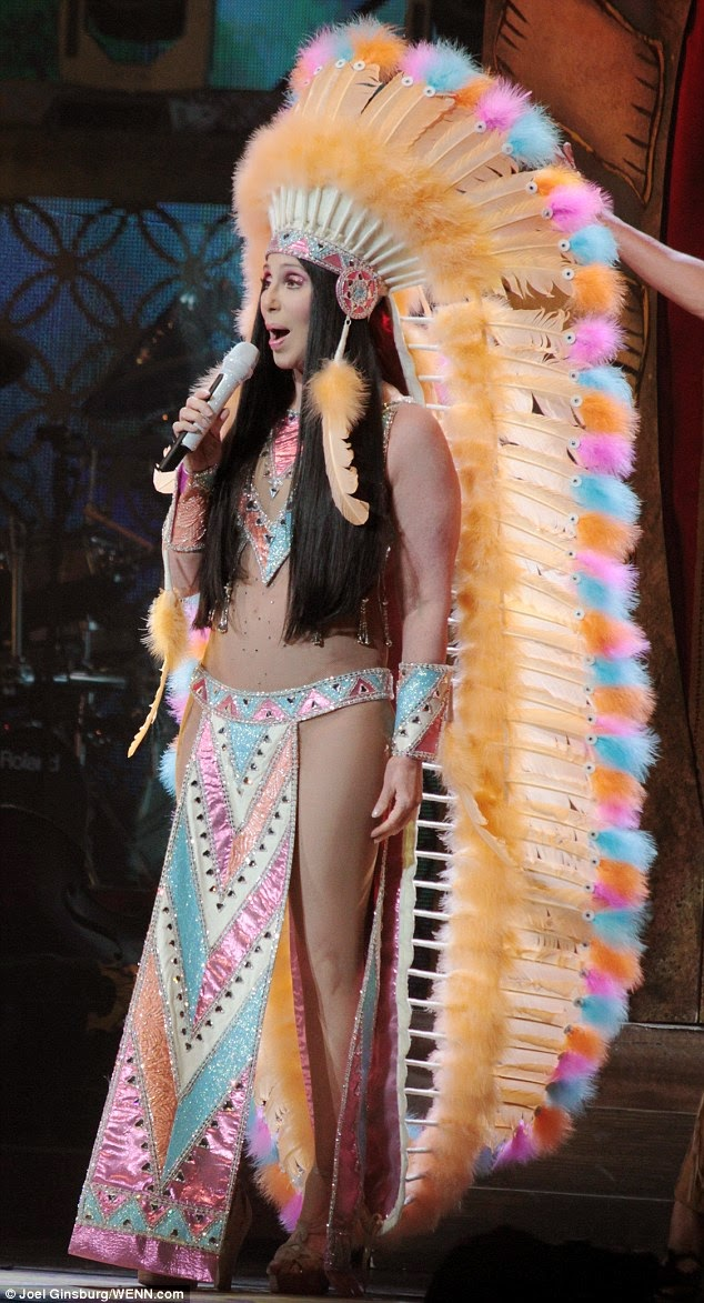 Cher singing 'Half Breed' on her 'Dressed To Kill Tour'