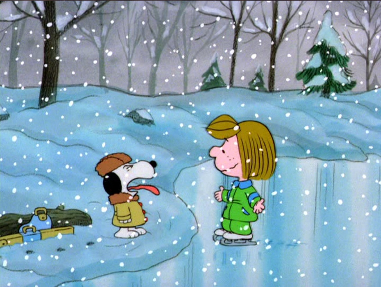 her early morning practices are taking a toll peppermint patty keeps falling asleep at school her friend marcie casey carlson does her best to keep her - Charlie Brown Christmas Streaming