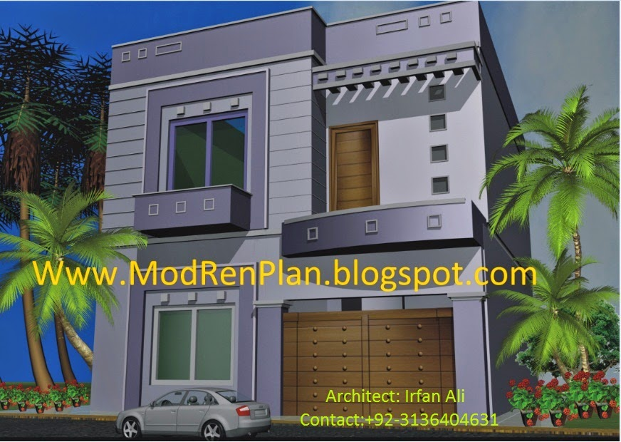 6 marla house front modern front elevation home design for Window design pakistan